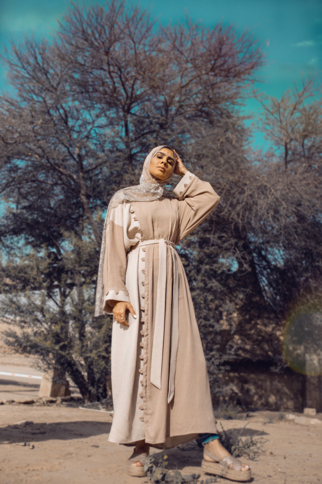 Bedouin Dress - Beige