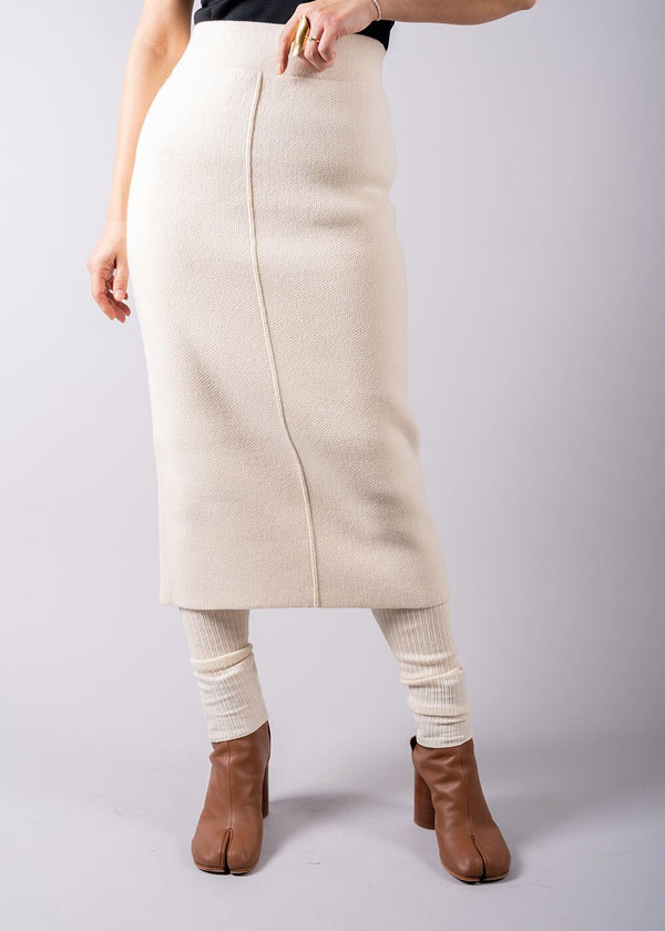 UN/BALANCE COTTON GEELONG LAMBS LONG SKIRT IVORY