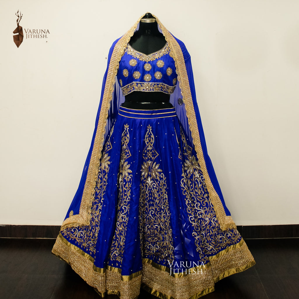 Royal Blue lehenga