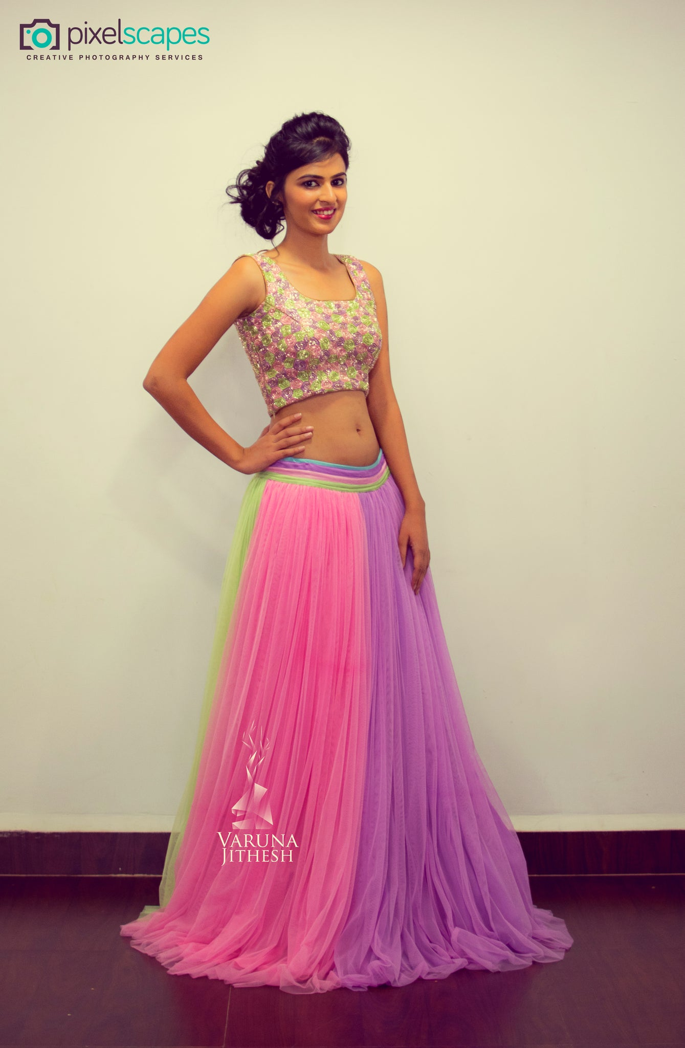 Multi color lehenga