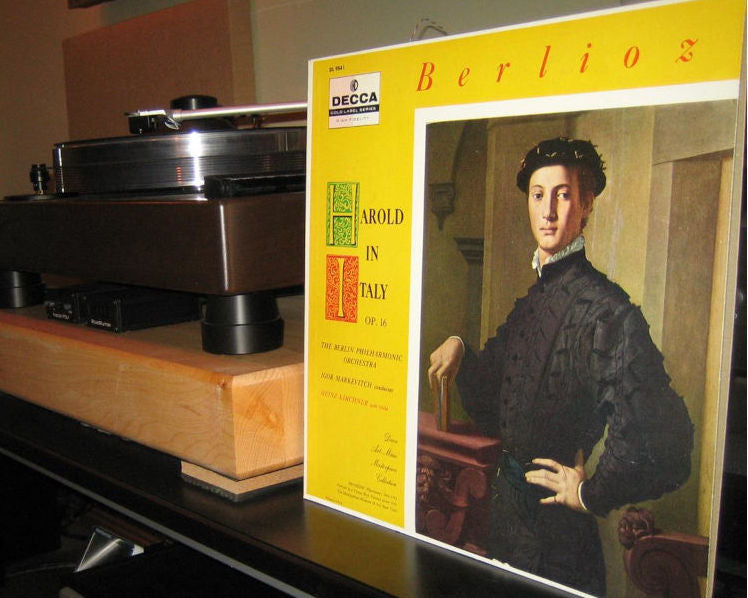 Berlioz Harold in Italy Op.16, Markevitch & Berlin Philharmonic, Kirchner Solo Viola - Decca Pink Label Promo DL 9841