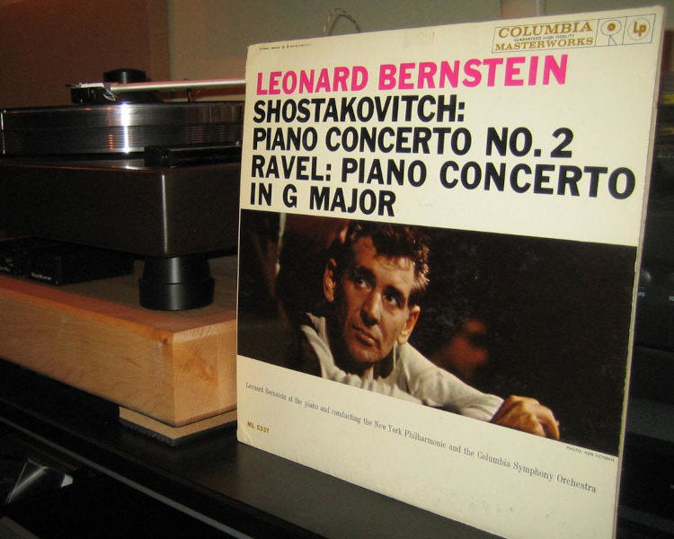 Shostakovitch Piano Concerto No.2 , Ravel Piano Concerto in G Major - Bernstein & New York Philharmonic - Columbia Masterworks six eye WLP ML 5337
