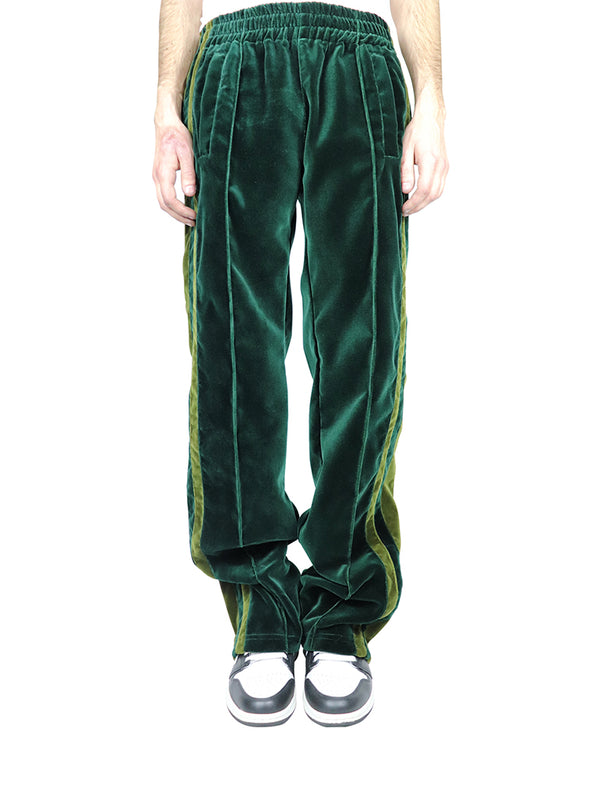 GREEN SHADES VELVET TECHNICAL PANTS