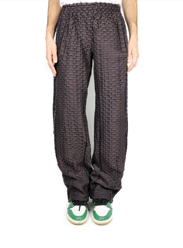 BROWN WAFFLE TECHNICAL PANTS