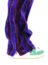 PURPLE SHADES VELVET TECHNICAL PANTS