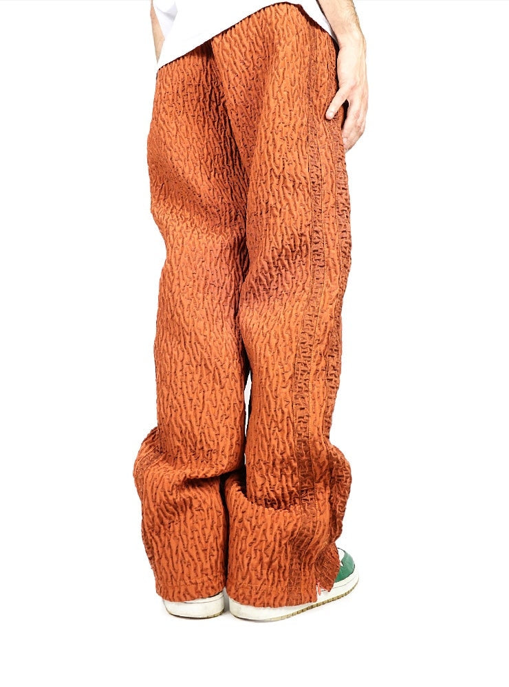 ORANGE STICKY TECHNICAL PANTS