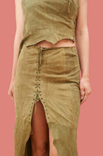 Load image into Gallery viewer, Vintage 90s / 00s Y2k Western Suede Co-ords Top and Skirts