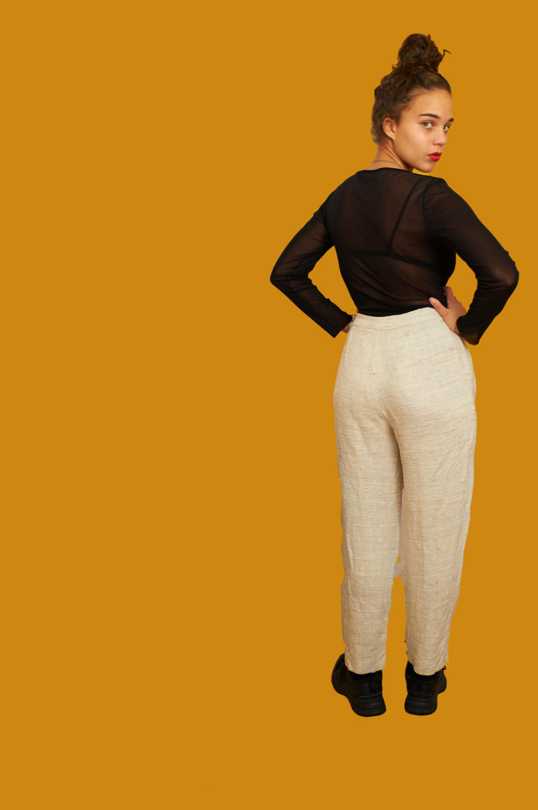 Vintage 80s 90s High Waist Pants Trousers