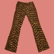 Load image into Gallery viewer, RARE Vintage 90s 00s y2k Heart Animal Print Moschino Jeans Trousers Pant