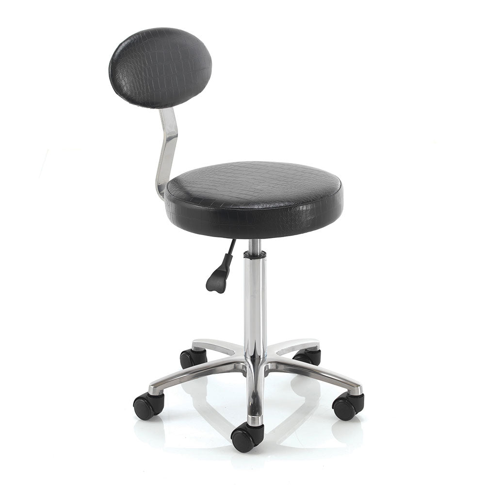 REM Cutting Therapist Stool with Backrest - StatusSalonServices
