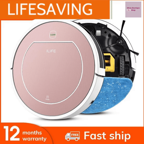 LIFESAVER Automatic Robot Vacuum Cleaner Sweep Wet Mopping For Hard Floors & Carpet