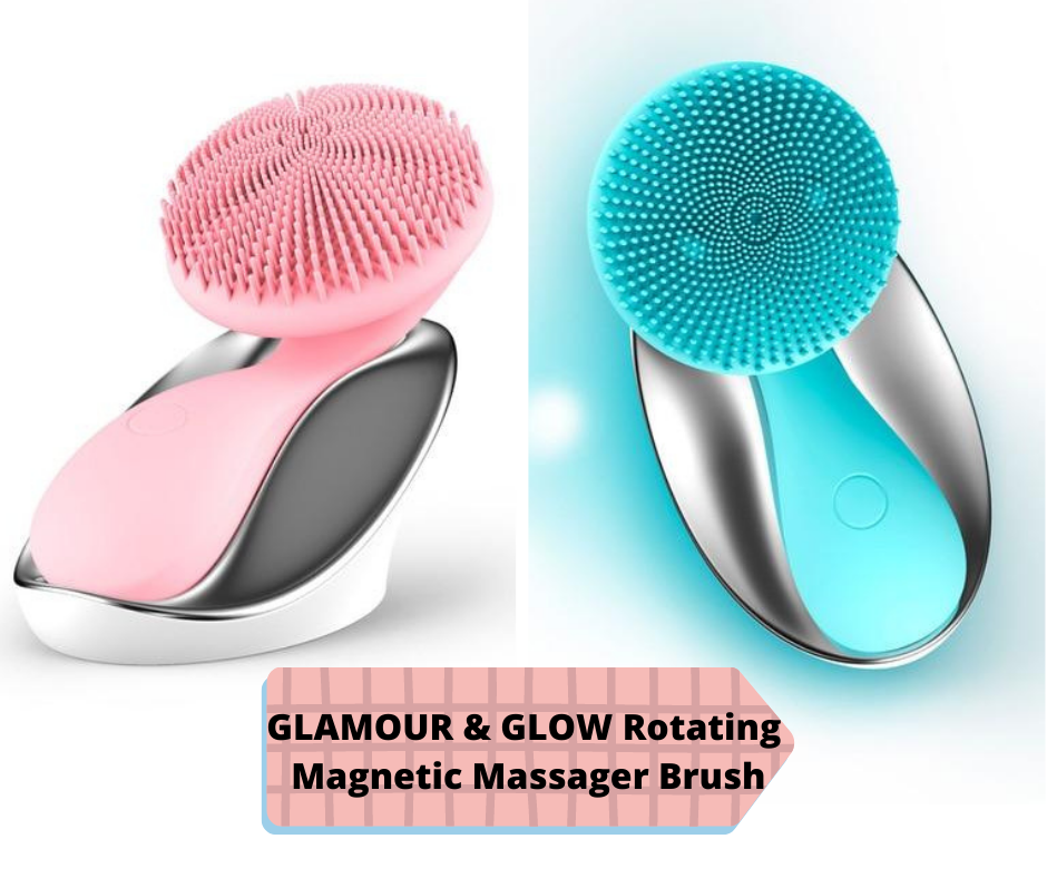 GLAMOUR & GLOW Rotating Magnetic Massager Brush