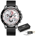 LUXY New Fashion Men Watches with Stainless Steel Top Brand