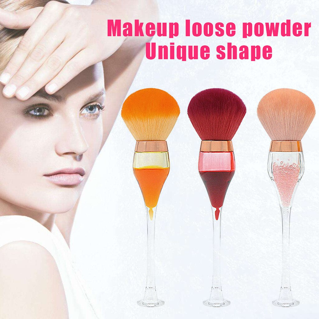 Red Wine Glass Makeup Brush Professional Makeup Tools For Face