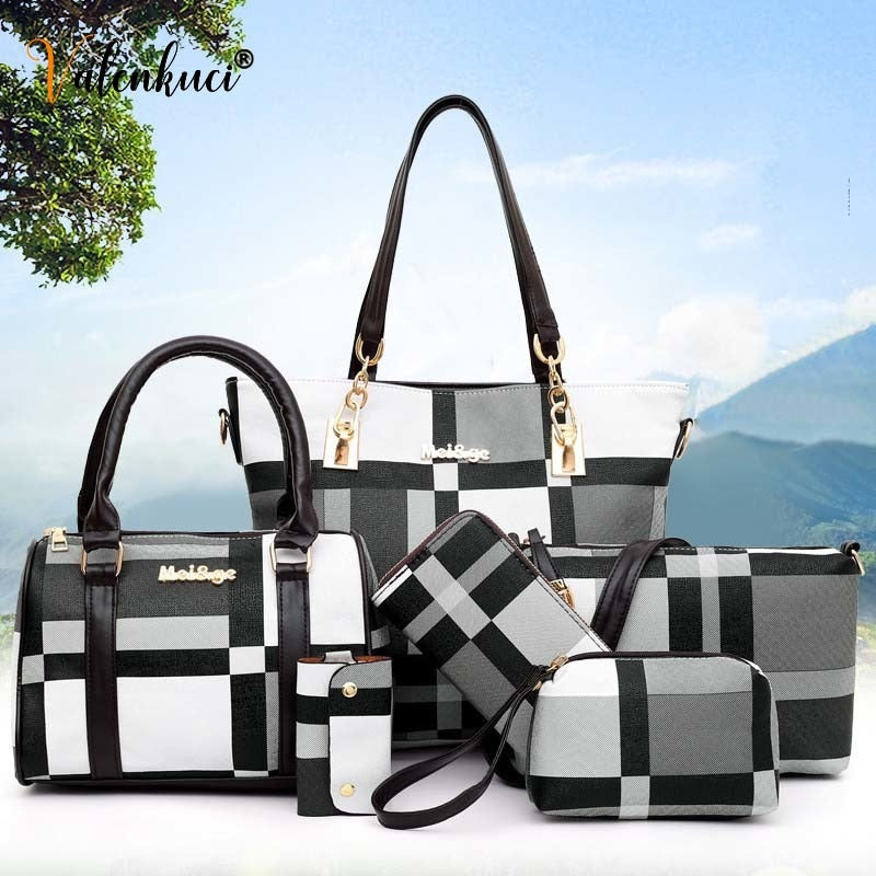 #2021 New Fashion Luxury Handbags Premium 6 PCS Set