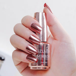 Metallic Gel Nail Polish Stainless Steel Mirror Silver Glitter Diamond Nail Art #2021 Arrival