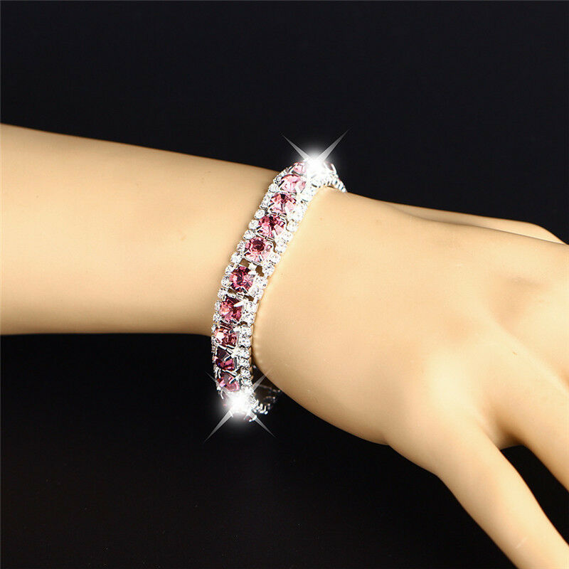 3 Rows Beautiful Colour Dimond Bracelets UK