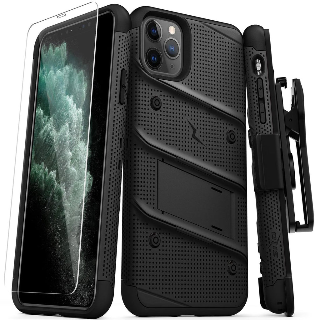 Case Zizo Bolt Series Iphone 11 Pro Max Negro & Negro