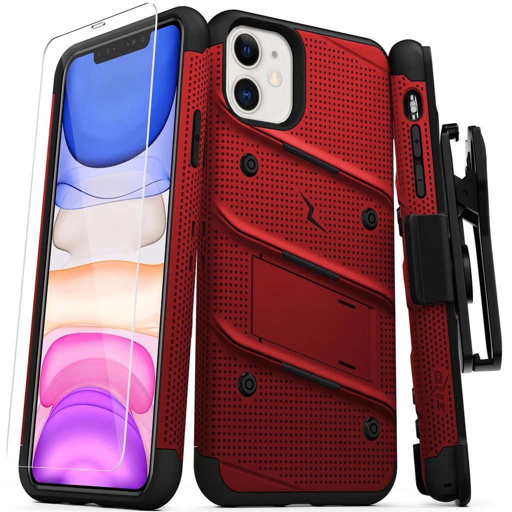 Case Zizo Bolt Series iPhone 11 Rojo & Negro