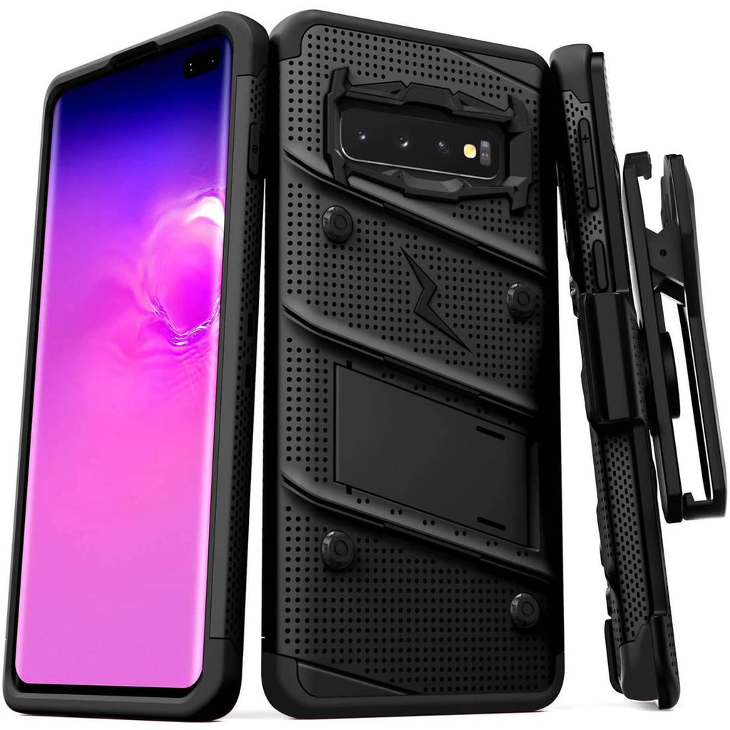 Case Zizo Bolt Series Samsung S10 Plus Negro & Negro