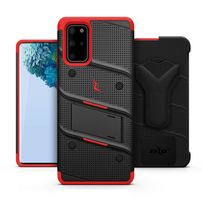 Case Zizo Bolt Series Samsung S20 Plus Negro & Rojo