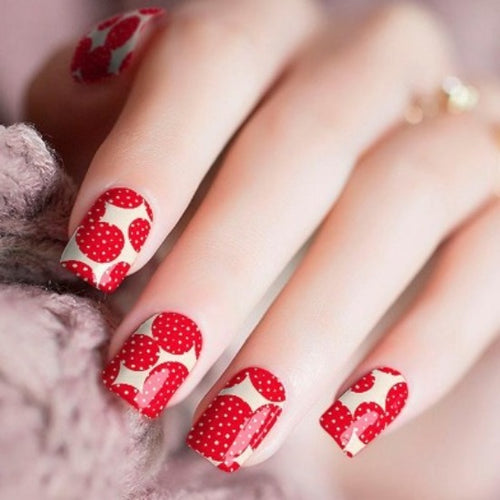 strawberry nail wraps