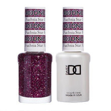 Load image into Gallery viewer, fuchsia glitter gel nail polish