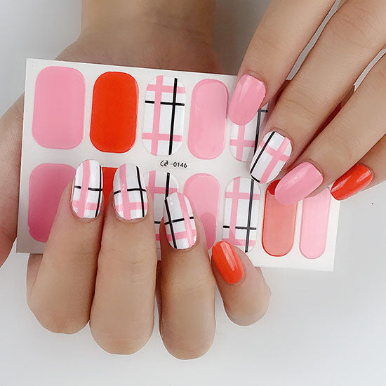 Matrix Pink Gel Nail Wraps