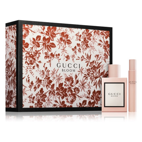 Gucci Bloom Gift Set perfume sprays 100ml and 7.4ml