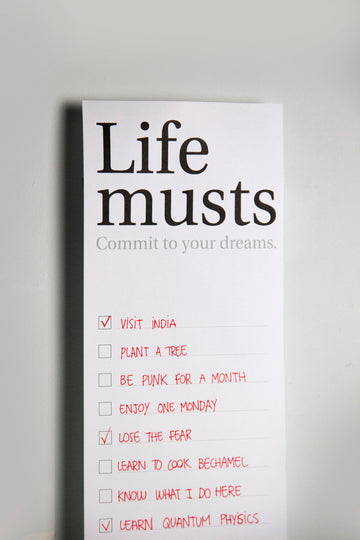 Life musts, poster