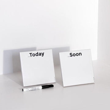 Today & Soon | Set of 2 ceramic tiles