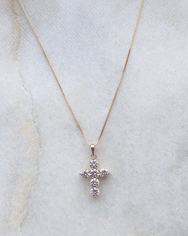 CHUNKY MINI CROSS NECKLACE