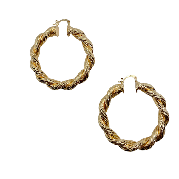 LARGE TWISTED HOOPS