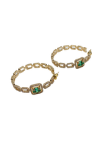 EMERALD CRYSTAL HOOPS