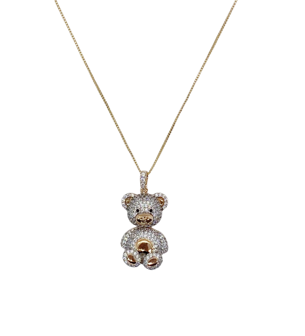 CRYSTAL TEDDY NECKLACE