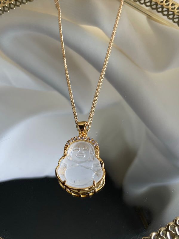 CRYSTAL MINI BUDDHA NECKLACE
