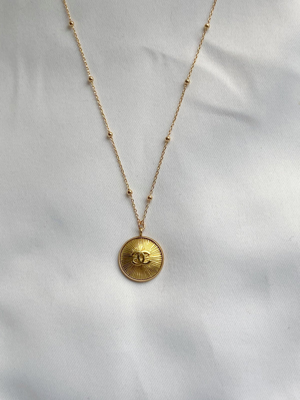 DAINTY GOLD CC NECKLACE - REWORKED VINTAGE COLLECTION