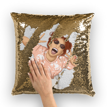 Load image into Gallery viewer, Happy Days Sequin Cushion Cover