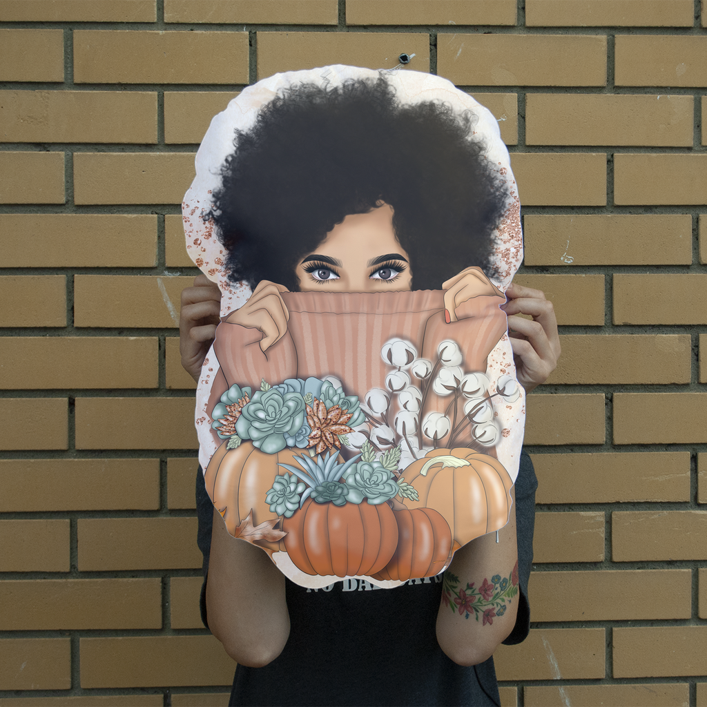 Fall Vibes Giant Face Cushion