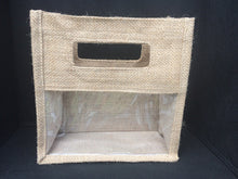 Load image into Gallery viewer, Natural Jute Bag with Clear Window Large