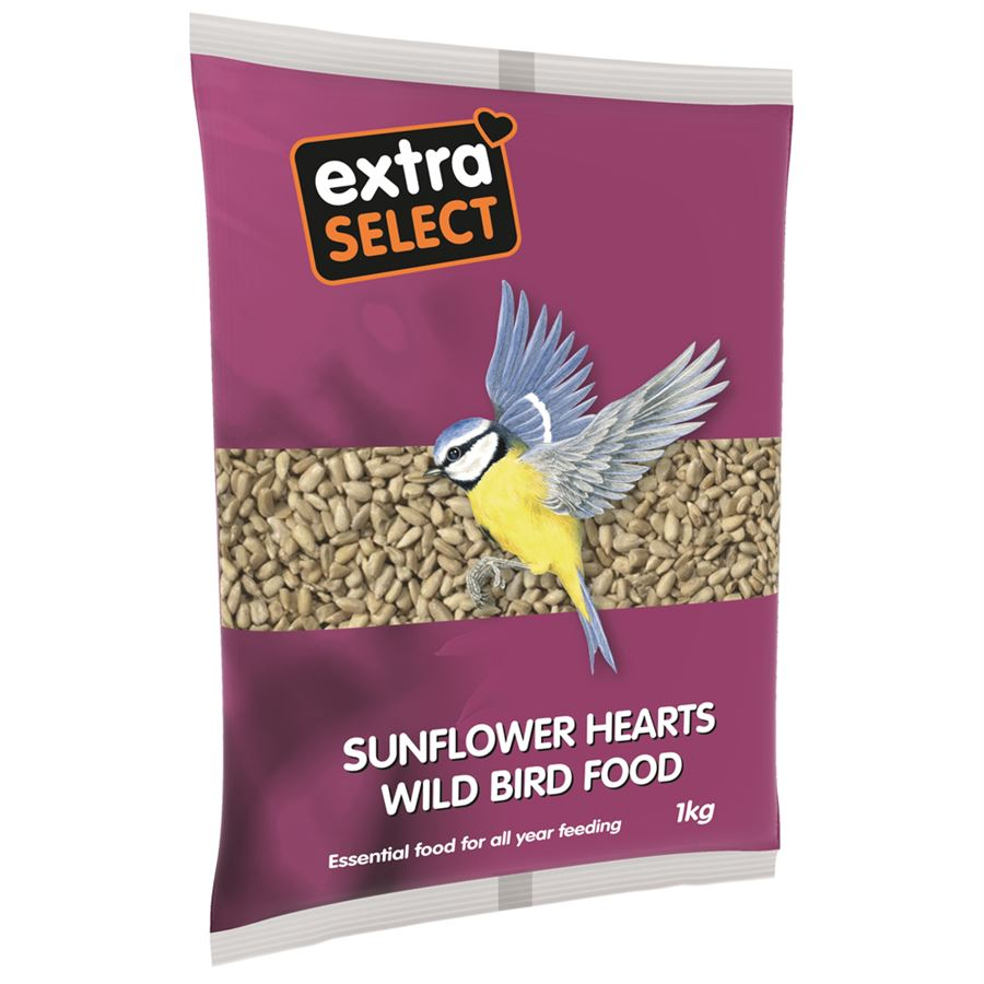 Extra Select Sunflower Hearts | 1kg, Bird Food by Dog In A Box