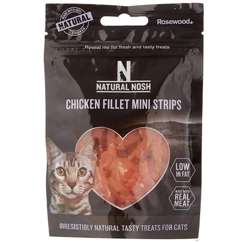 Natural Nosh Cat Chicken Fillet Mini Strips, Cat Treats by Dog In A Box