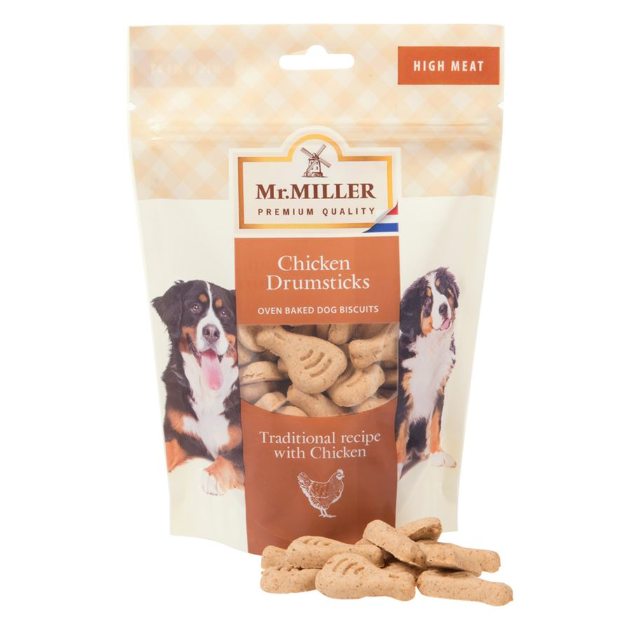 Mr Miller High Meat Chicken Drumsticks - BBE 08/21, Dog Food by Dog In A Box