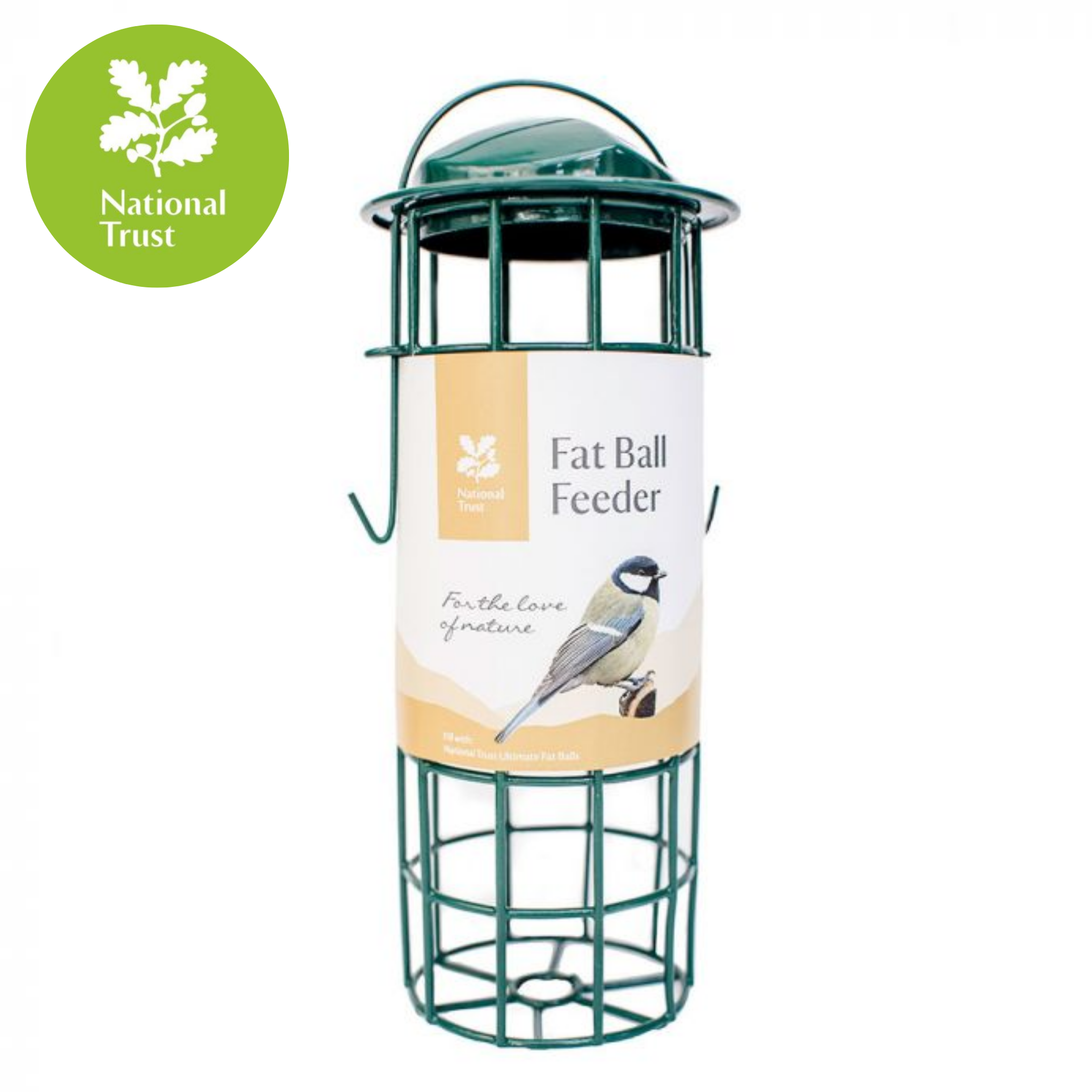 National Trust Metal Upright Fat Ball Feeder, Bird Food by Dog In A Box
