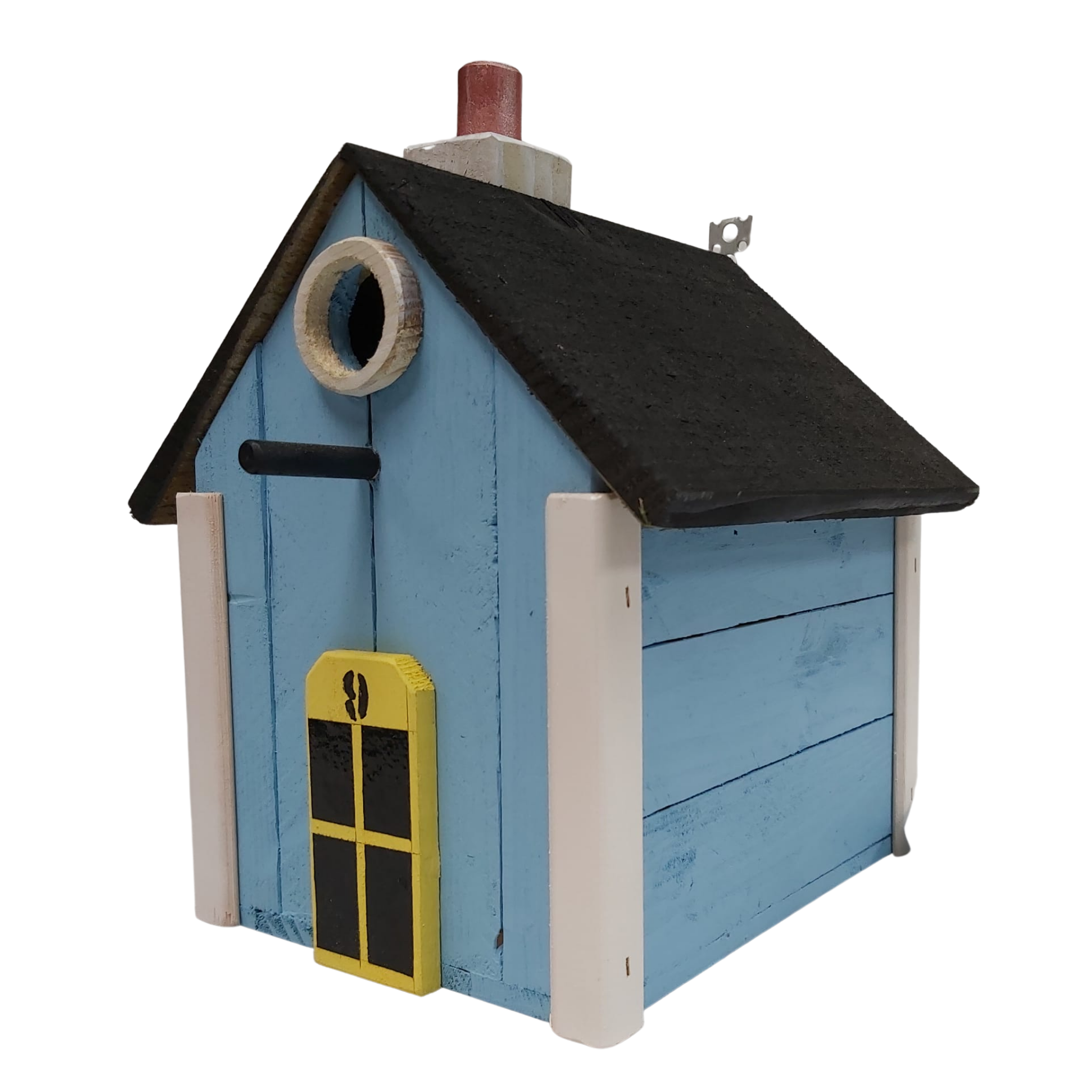 Handmade Bird Nesting House Box- Light Blue, Bird Cages & Stands by Dog In A Box