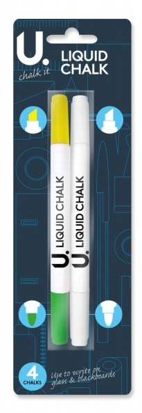 Liquid Chalk Pens - Yellow, Green & White Nibs