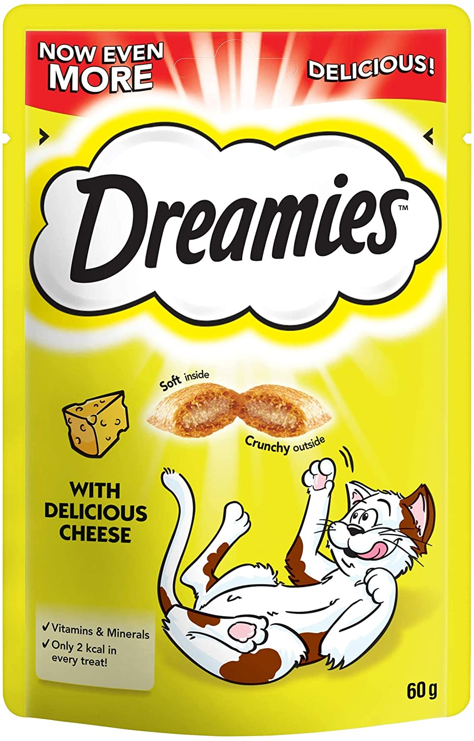 Dreamies Cheese Cat Treats 60g, Cat Food by Dog In A Box