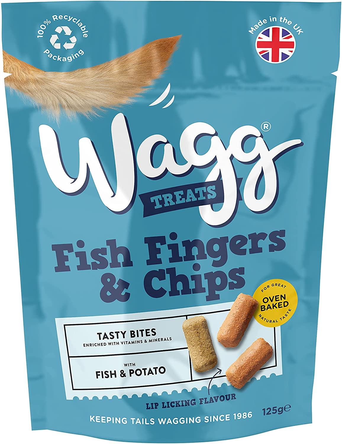 Wagg Fish Fingers & Chips Flavour Dog Treats 125g, Dog Treats by Dog In A Box