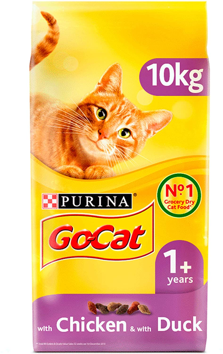 Go Cat ADULT Chicken & Duck Dry Cat Food 10 kg, Cat Food by Dog In A Box