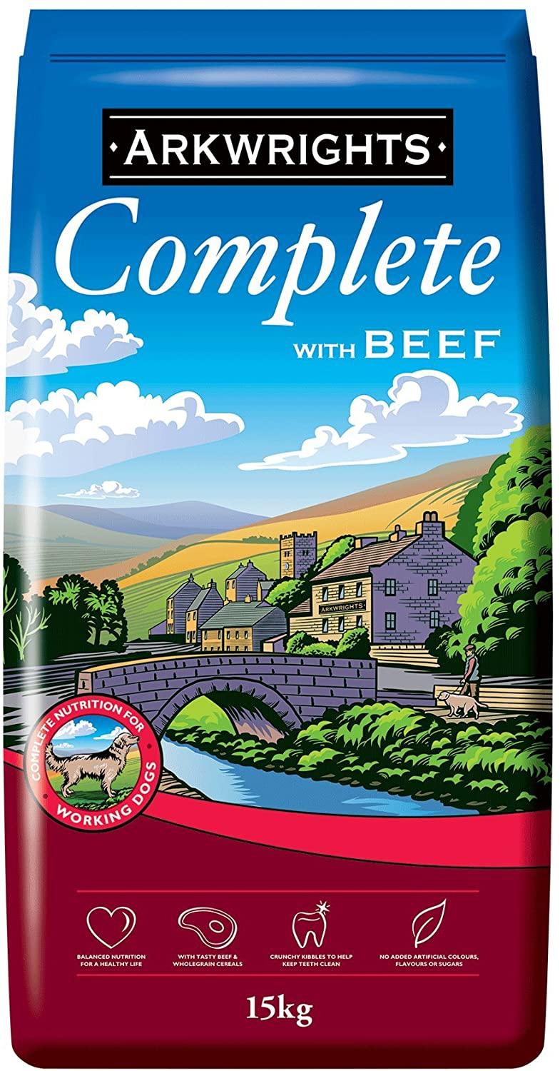 Arkwrights Complete Dry Dog Food Beef 15 kg, Dog Food by Dog In A Box